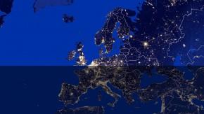 Vue aérienne de l'Europe