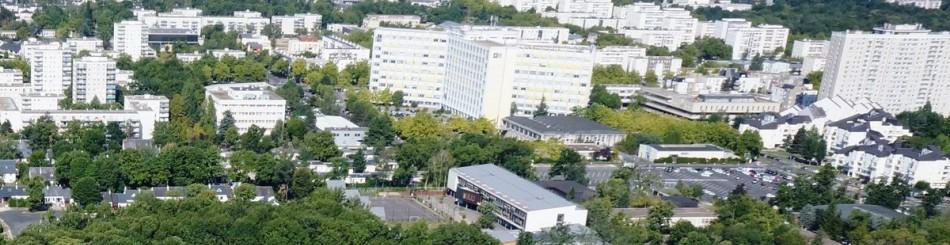 Vue aérienne du centre scientifique et technique du BRGM à Orléans